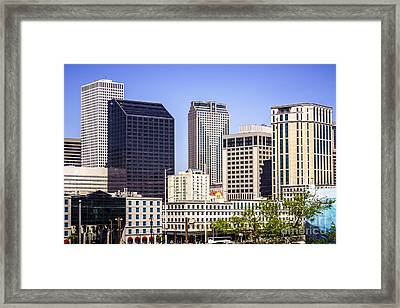 Downtown New Orleans Buildings Framed Print by Paul Velgos