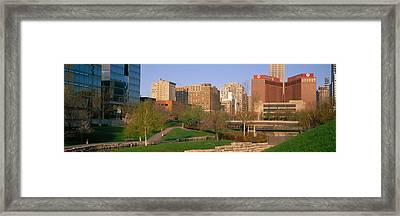 Downtown Omaha Ne Framed Print by Panoramic Images