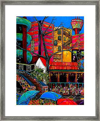 Downtown On The River Framed Print by Patti Schermerhorn