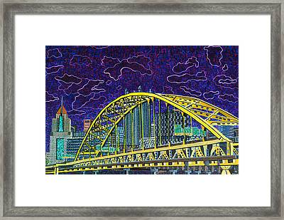 Downtown Pittsburgh - Fort Pitt Bridge Framed Print by Micah Mullen