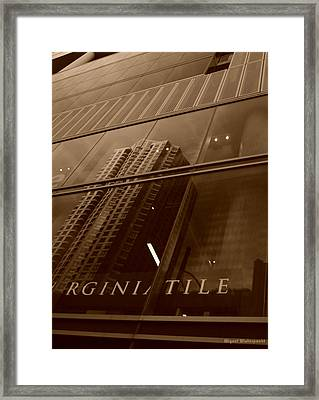 Downtown Reflections Framed Print by Miguel Winterpacht