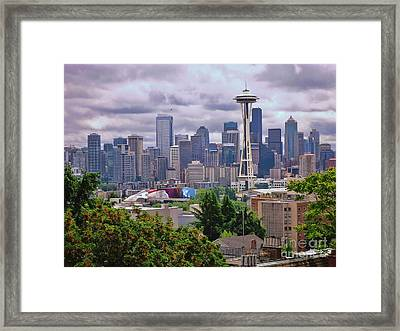 Downtown Seattle From Kerry Park Framed Print by Allen Beatty