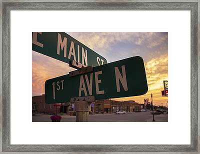 Downtown State Center Framed Print by Bailey Barry