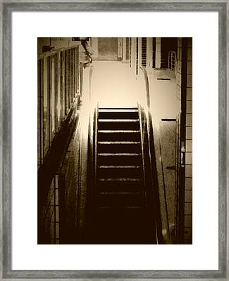 Downward  Framed Print by Mike Norkin
