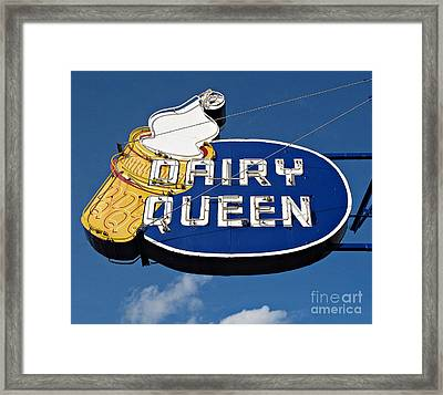 Dq Cone Sign Framed Print by Ethna Gillespie