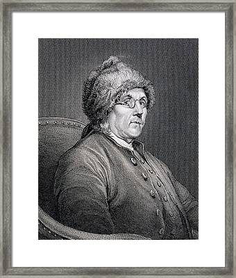 Dr Benjamin Franklin Framed Print by English School