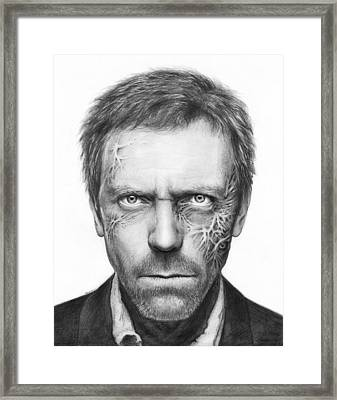 Dr. Gregory House - House Md Framed Print by Olga Shvartsur