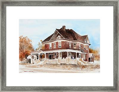 Dr. Hall Residence Framed Print by Monte Toon