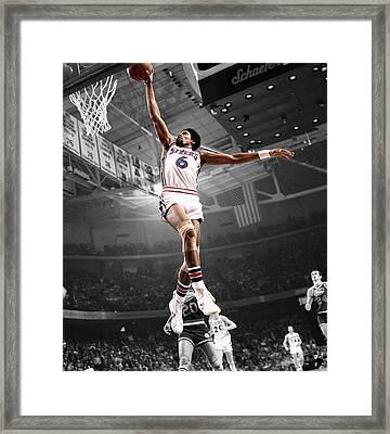 Dr J Framed Print by Brian Reaves
