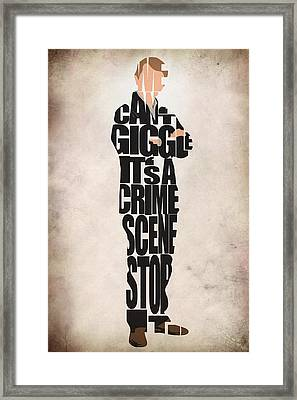 Dr. John Watson Framed Print by Ayse Deniz