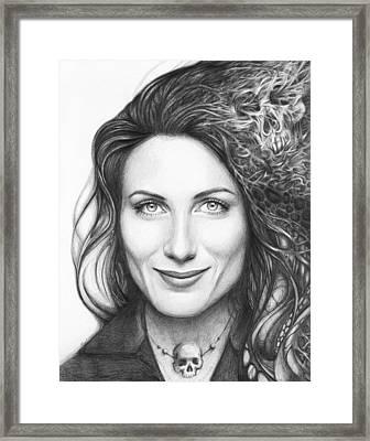 Dr. Lisa Cuddy - House Md Framed Print by Olga Shvartsur