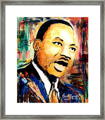 Dr. Martin Luther King Jr Framed Print by Everett Spruill
