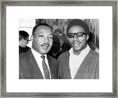 Dr. Martin Luther King Framed Print by Underwood Archives