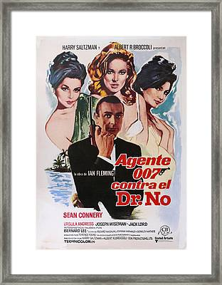 Dr No - Spanish Framed Print by Georgia Fowler