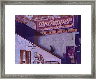 Dr Pepper Blues The Way It Was Framed Print by Tony Rubino