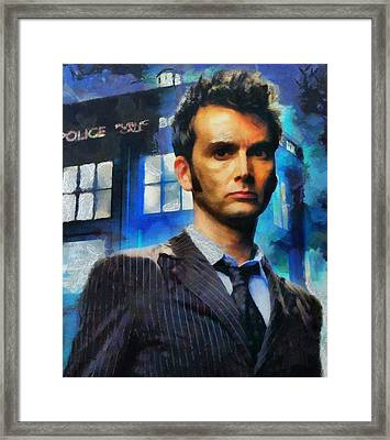 Dr Who Number 10  Framed Print by Janice MacLellan
