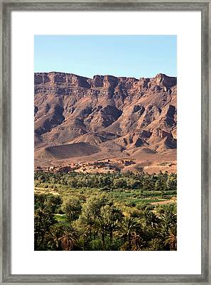 Draa Valley Morocco Framed Print by Sophie Vigneault