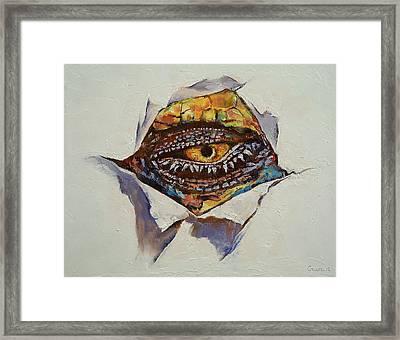 Dragon Eye Framed Print by Michael Creese