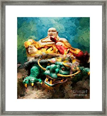Dragon Face Framed Print by Adrian Evans
