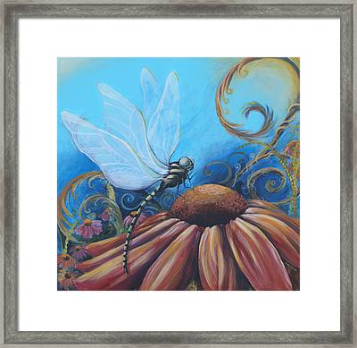 Dragon Fly Framed Print by Coreen Wasilkoff