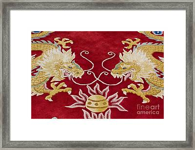 Dragon Image On The Carpet Framed Print by Tosporn Preede