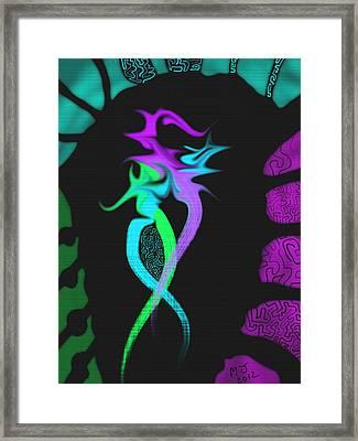 Dragon Framed Print by Michael Jordan