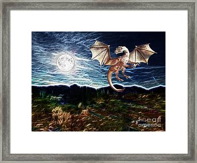 Dragon Night Framed Print by Methune Hively