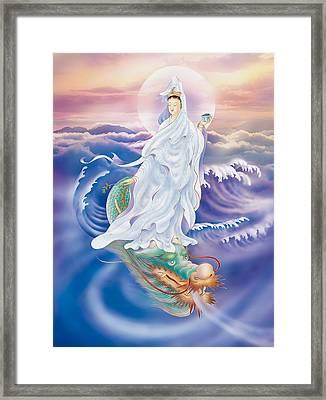 Dragon-riding Avalokitesvara  Framed Print by Lanjee Chee