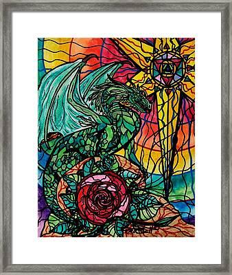Dragon Framed Print by Teal Eye  Print Store