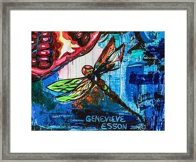 Dragonflies Abstract 4 Framed Print by Genevieve Esson