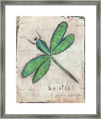 Dragonfly Framed Print by Cassandra Cushman