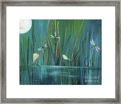 Dragonfly Diner Framed Print by Carol Sweetwood