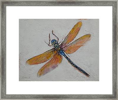 Dragonfly Framed Print by Michael Creese