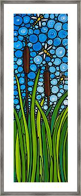 Dragonfly Pond By Sharon Cummings Framed Print by Sharon Cummings