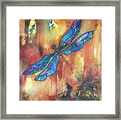 Dragonfly Rust Framed Print by Christy  Freeman