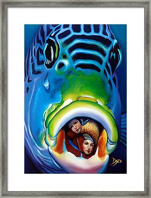 Dragons And Dungeonfish Framed Print by Patrick Anthony Pierson