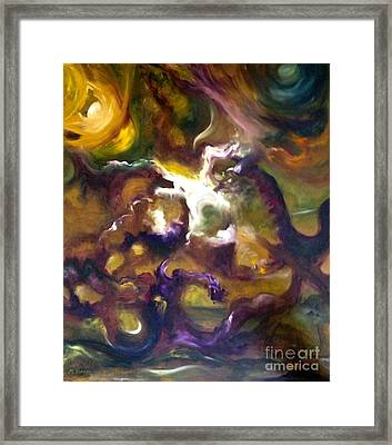 Dragons Framed Print by Michelle Dommer