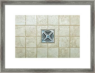 Drain Hole Framed Print by Tom Gowanlock