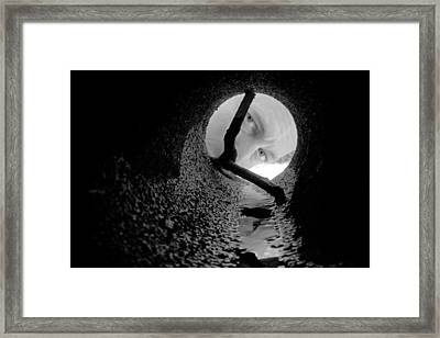 Drain Pipe - Artist Self Portrait Framed Print by Gary Heller
