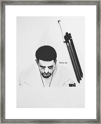 Drake Drawing Framed Print by Caleb Tony
