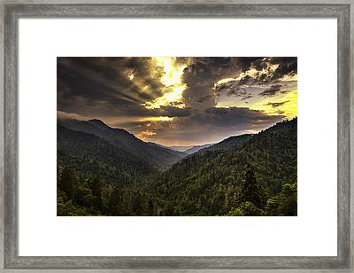 Drama At Day's End Framed Print by Andrew Soundarajan