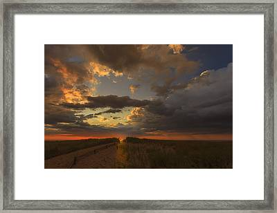 Dramatic Clouds Over Atlantic Ocean Framed Print by Dapixara Art