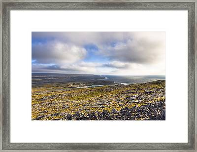 Dramatic Landscape Of The Aran Islands Framed Print by Mark Tisdale
