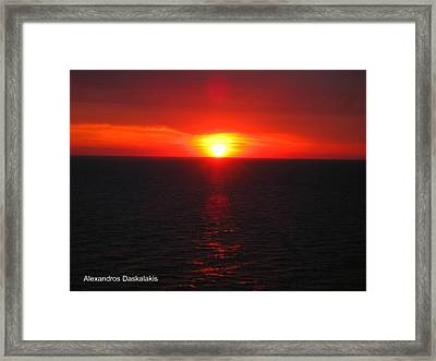 Dramatic Sunset Framed Print by Alexandros Daskalakis