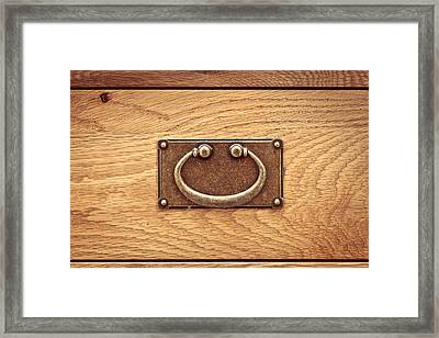 Drawer Handle Framed Print by Tom Gowanlock