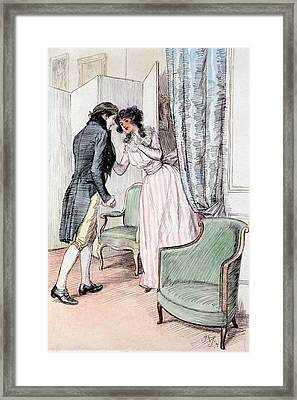Drawing Him A Little Aside Framed Print by Hugh Thomson