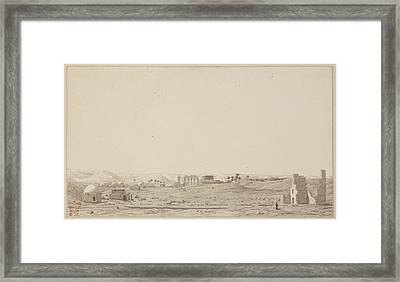 Drawing Of The Temple Complex At Esneh Framed Print by British Library