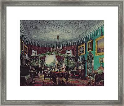Drawing Room Of Empress Alexandra Feodorovna Framed Print by Eduard Hau