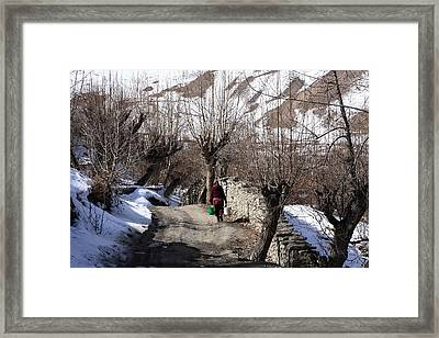 Drawing Water From The Well Framed Print by Aidan Moran