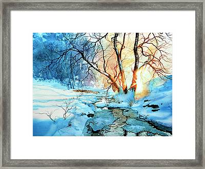 Drawn To The Sun Framed Print by Hanne Lore Koehler